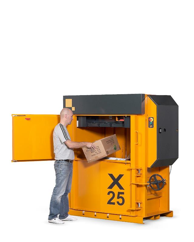 Baler X25 strong baler for cardboard waste