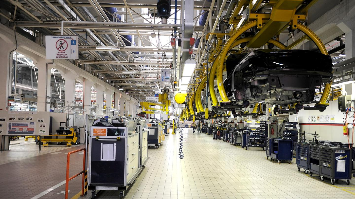 Production area at Maserati