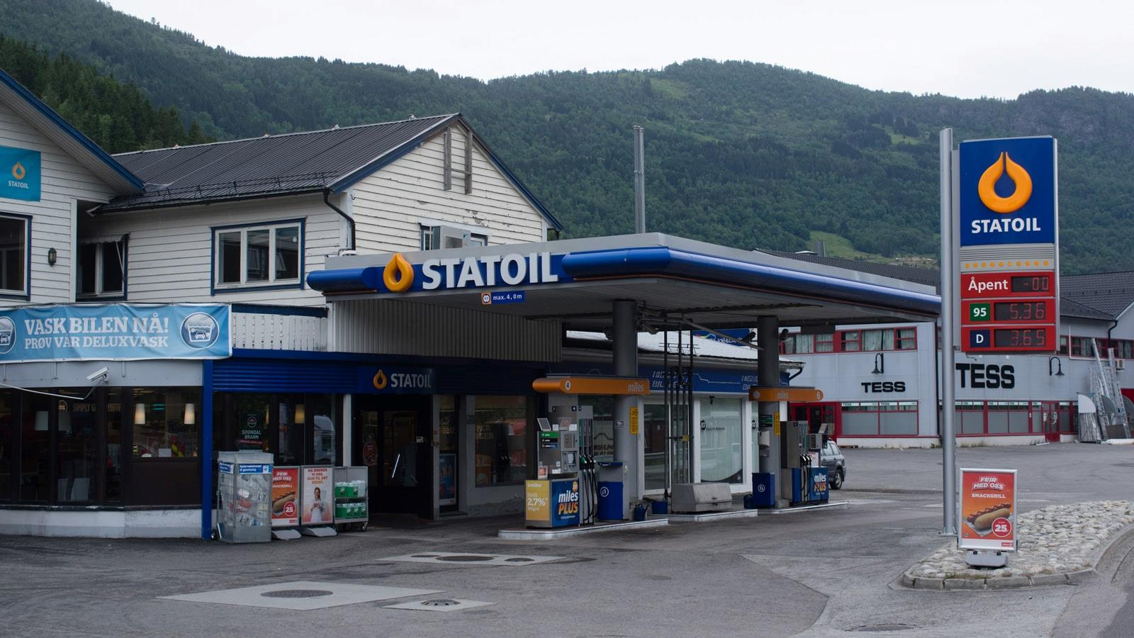 Statoil petrol station and shop
