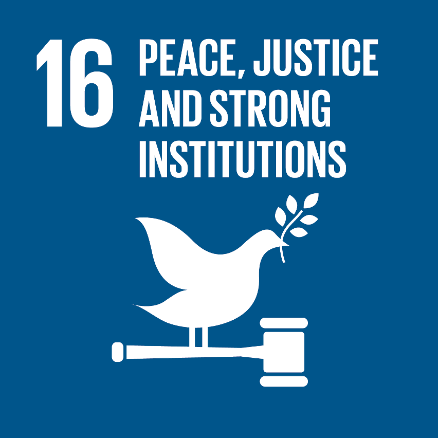 SDG Accelerator logo for Peace, justice and strong institutions