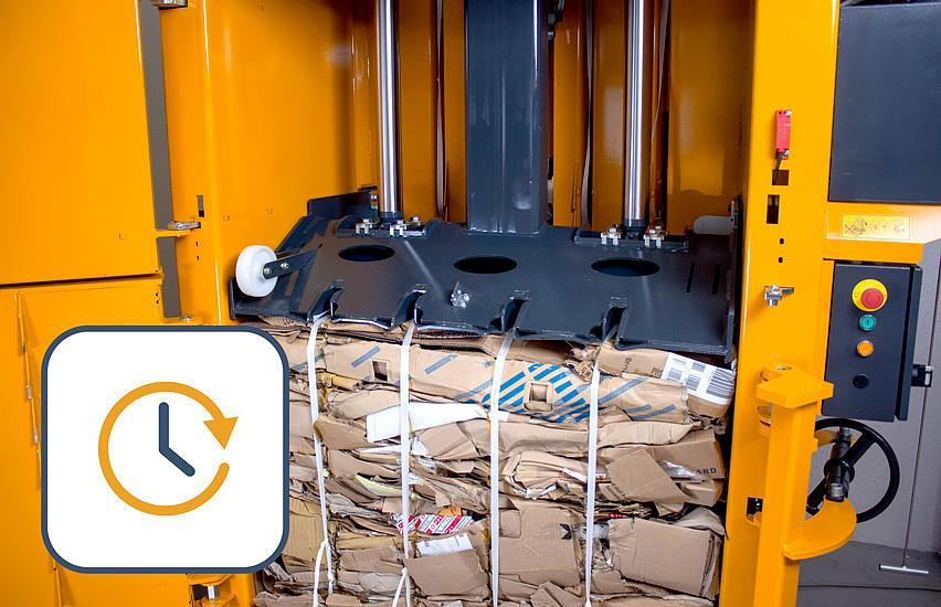 Extra wide filling opening available with the B30 Wide baler