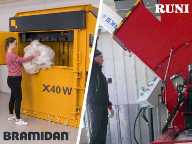 Runi EPS-screw compactor and Bramidan baler X40 wide